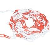 Plastic chain red/white 6 mm._50