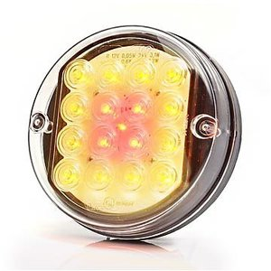 ø 100 mm Rear- Brake- Indicator lamp, glear glass, LED