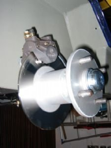 Hub with 200mm stainless steel disc