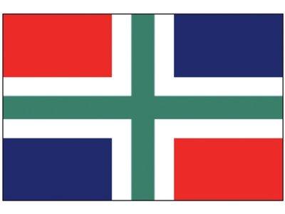 Flag province Groningen 20x30cm / 30x45cm.