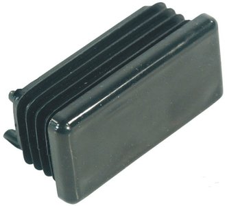 Square ribbed insert from 40x20mm Black