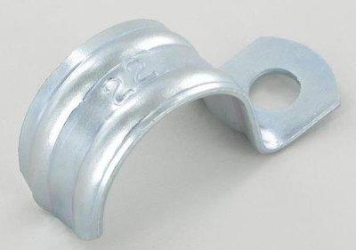 Pipe clam, metal 22 mm.