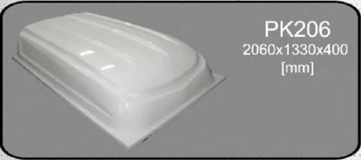 Lid for trailer polyester 2060x1330x400mm.