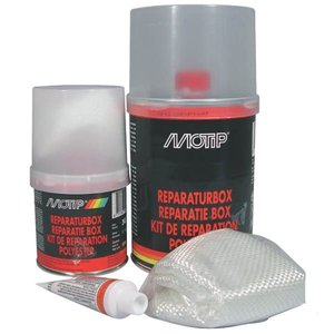 Polyester repair + harder and mat, 1kg.
