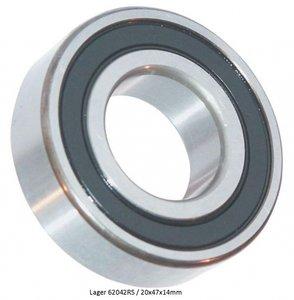 6006 2RS Bearing, Deep groove ball bearing 55x30x13 mm