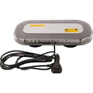 Flash light bar, LED, amber magnet 126W.